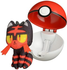 Figura de Litten de Peluche con Pokeball - Figuras coleccionables de Litten de Pokemon