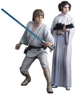 Figura de Luke Skywalker y Leia de Kotobukiya - Figuras coleccionables de Luke Skywalker de Star Wars