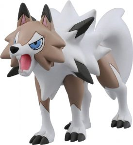 Figura de Lycanroc 4 de Takara Tomy - Figuras coleccionables de Rockruff de Pokemon
