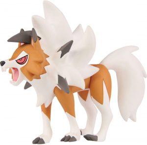 Figura de Lycanroc de Takara Tomy - Figuras coleccionables de Rockruff de Pokemon