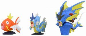 Figura de Magikarp, Gyarados y Mega Gyarados de Takara Tomy - Figuras coleccionables de Gyarados de Pokemon