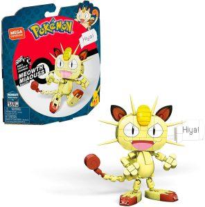 Figura de Meowth de Mega Construx - Figuras coleccionables de Meowth de Pokemon