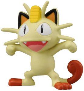 Figura de Meowth de Takara Tomy básico - Figuras coleccionables de Meowth de Pokemon