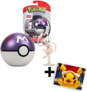 Figura de Mew con Masterball de Takara Tomy - Figuras coleccionables de Mew de Pokemon