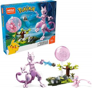 Figura de Mewtwo vs Mew de Mega Construx - Figuras coleccionables de Mewtwo de Pokemon
