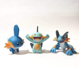 Figura de Mudkip, Swampert y Marshtomp de Takara Tomy - Figuras coleccionables de Mudkip de Pokemon