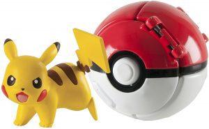 Figura de Pikachu con pokeball de Tomy - Figuras coleccionables de Pikachu de Pokemon