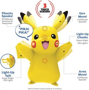 Figura de Pikachu de Wicked Cool - Figuras coleccionables de Pikachu de Pokemon