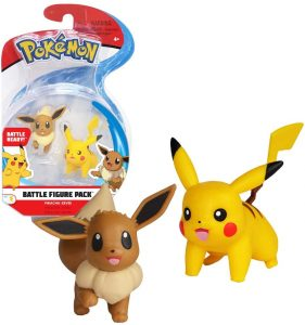 Figura de Pikachu vs Eevee de Pokemon Battle - Figuras coleccionables de Pikachu de Pokemon
