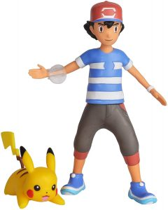 Figura de Pikachu y Ash de Wicked Cool - Figuras coleccionables de Pikachu de Pokemon