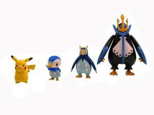 Figura de Piplup, Prinplup y Empoleon de Takara Tomy - Figuras coleccionables de Piplup de Pokemon