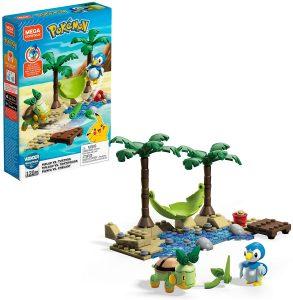 Figura de Piplup Vs Turtwig de Mega Construx - Figuras coleccionables de Turtwig de Pokemon