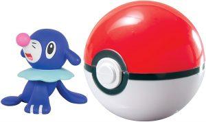 Figura de Popplio con Pokeball de Takara Tomy - Figuras coleccionables de Popplio de Pokemon
