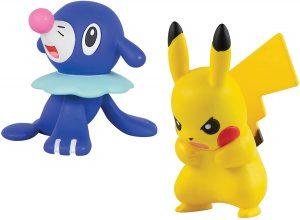 Figura de Popplio vs Pikachu de Takara Tomy - Figuras coleccionables de Popplio de Pokemon