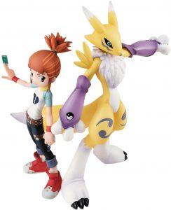 Figura de Renamon y Ruki de Digimon de Megahouse - Figuras coleccionables de Digimon