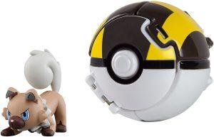 Figura de Rockruff con Pokeball de Takara Tomy - Figuras coleccionables de Rockruff de Pokemon