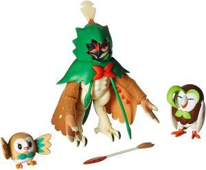 Figura de Rowlet, Dartrix y Decidueye de Takara Tomy - Figuras coleccionables de Rowlet de Pokemon
