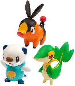 Figura de Snivy Tepig y Oshawott de Takara Tomy - Figuras coleccionables de Snivy de Pokemon
