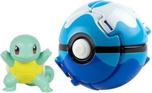 Figura de Squirtle con Buceo Ball de Takara Tomy - Figuras coleccionables de Blastoise de Pokemon