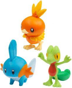 Figura de Torchic , Mudkip y Treecko de Takara Tomy - Figuras coleccionables de Treecko de Pokemon