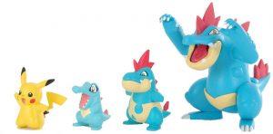 Figura de Totodile, Croconaw y Feraligatr de Takara Tomy - Figuras coleccionables de Totodile de Pokemon