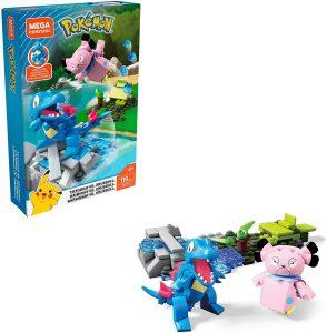 Figura de Totodile vs Snubbull de Mega Construx - Figuras coleccionables de Totodile de Pokemon