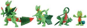 Figura de Treecko, Grovyle, Sceptile y Mega Sceptile de Takara Tomy - Figuras coleccionables de Treecko de Pokemon