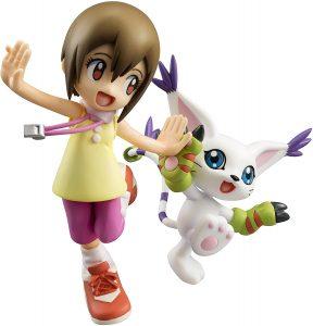 Figura de Yagami Hikari y Tailmon de Digimon de Megahouse - Figuras coleccionables de Digimon