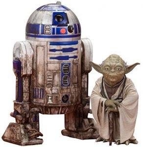 Figura de Yoda Dagobah y R2-D2 de Kotobukiya - Figuras coleccionables de Yoda de Star Wars