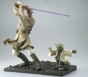 Figura de Yoda y Mace Windu de Kotobukiya- Figuras coleccionables de Yoda de Star Wars