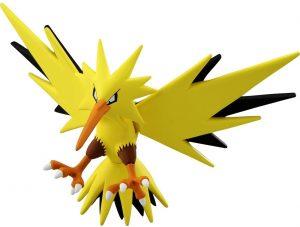 Figura de Zapdos de Takara Tomy - Figuras coleccionables de Zapdos de Pokemon