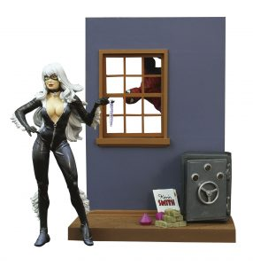 Figura Diamond de Black Cat - Las mejores figuras Diamond de Gata Negra - Figuras coleccionables de villanos de Spiderman