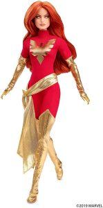 Figura de Dark Phoenix de los X-Men de Barbie de Mattel - Figuras coleccionables de Dark Phoenix