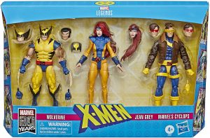 Figura de Jean Grey, Lobezno y Cíclope de los X-Men de Marvel Legends - Figuras coleccionables de Jean Grey
