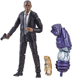 Figura de Nick Furia - Nick Fury con Goose de Capitana Marvel de Marvel Legends Series - Figuras coleccionables de Nick Furia