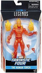 Figura de la Antorcha Humana -Human Torch de Marvel Legends Series de Hasbro - Figuras coleccionables de los 4 fantásticos - Figuras coleccionables de Fantastic 4