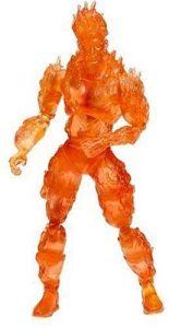 Figura de la Antorcha Humana -Human Torch de Toy Biz - Figuras coleccionables de los 4 fantásticos - Figuras coleccionables de Fantastic 4