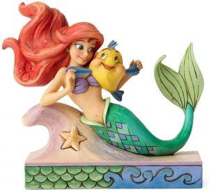 Figura y muñeco de Ariel con Flounder de Disney Traditions - Figuras coleccionables, juguetes y muñecos de la Sirenita - Muñecos de Disney
