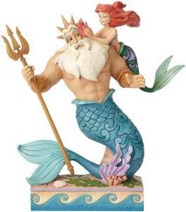 Figura y muñeco de Ariel con el Rey Tritón de Disney Traditions - Figuras coleccionables, juguetes y muñecos de la Sirenita - Muñecos de Disney