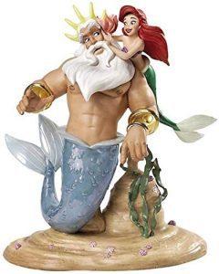 Figura y muñeco de Ariel con el Rey Tritón de Walt Disney Classics - Figuras coleccionables, juguetes y muñecos de la Sirenita - Muñecos de Disney