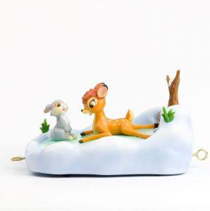 Figura y muñeco de Bambi y Tambor sobre la nieve de Enesco - Figuras coleccionables, juguetes y muñecos de Bambi - Muñecos de Disney