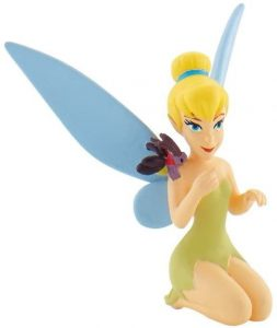 Figura y muñeco de Campanilla con mariposa de Bullyland - Figuras coleccionables, juguetes y muñecos de Peter Pan - Muñecos de Disney