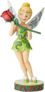 Figura y muñeco de Campanilla con rosa de Enesco de Disney Traditions - Figuras coleccionables, juguetes y muñecos de Peter Pan - Muñecos de Disney