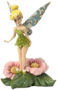 Figura y muñeco de Campanilla sobre Flor de Enesco de Disney Traditions - Figuras coleccionables, juguetes y muñecos de Peter Pan - Muñecos de Disney