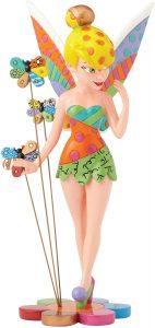 Figura y muñeco de Campanilla sobre flores de Enesco de Disney Britto - Figuras coleccionables, juguetes y muñecos de Peter Pan - Muñecos de Disney