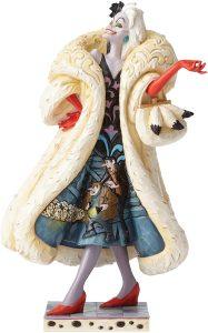Figura y muñeco de Cruella de Vil de Disney Traditions - Figuras coleccionables, juguetes y muñecos de los 101 dálmatas - Muñecos de Disney