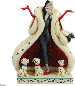Figura y muñeco de Cruella de Vil de Enesco - Figuras coleccionables, juguetes y muñecos de los 101 dálmatas - Muñecos de Disney