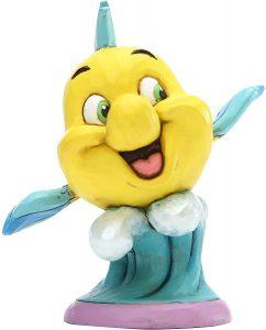 Figura y muñeco de Flounder de Disney Traditions - Figuras coleccionables, juguetes y muñecos de la Sirenita - Muñecos de Disney
