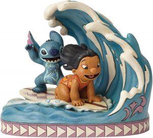 Figura y muñeco de Lilo y Stitch Haciendo Surf de Enesco de Disney Traditions - Figuras coleccionables, juguetes y muñecos de Lilo y Stich - Muñecos de Disney
