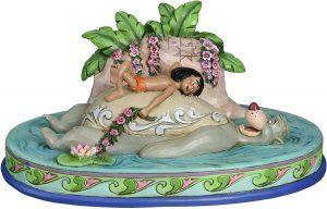 Figura y muñeco de Mowgli y Baloo de Disney Traditions - Figuras coleccionables, juguetes y muñecos del Libro de la Selva - Muñecos de Disney